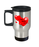 Best Hubby Ever -Gift for wife -Travel mug ,Partner Anniversary & Valentine Gag Gifts 14 oz