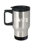 Bike Lovers Mugs , Bike Love - Stainless Steel Travel Insulated Tumblers Mug 14 oz - Great Gift