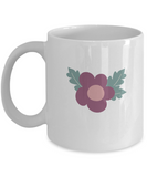 Valentine Flowers white mugs - Funny Christmas Gifts White coffee mugs 11 oz