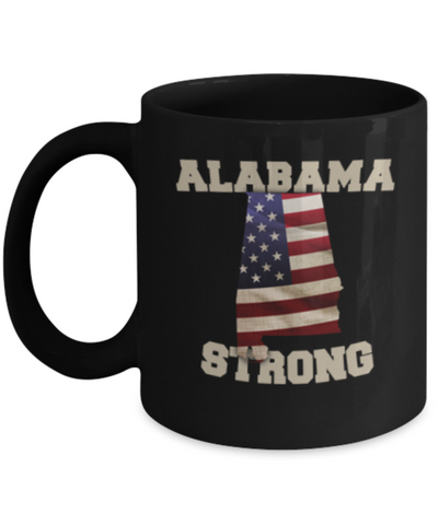 Alabama State coffee coffee mug - Porcelain Black Funny Coffee Mug, Black coffee mugs 11 oz