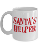 Rumbles the cloud and santa's greatest gift - Santa's Helper - Funny Santa Gift Mugs, Christmas Gifts for family Ceramic Cup White, Funny Mugs Gift Ideas 11 Oz