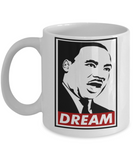 Martin luther king mugshot Dream - Funny White Porcelain Coffee Mug Cute Ceramic Cup 11 oz