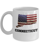 I Love Connecticut Coffee Mugs Coffee mug sets - 11 Oz State Love Gift Idea Tea Cup Funny