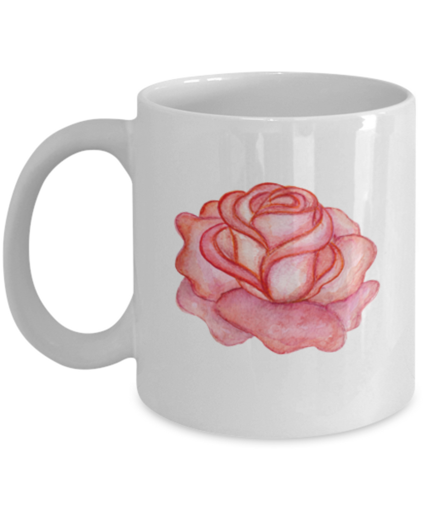 Flowers and Leaves 2 coffee mugs - Funny Christmas Gifts - White coffee mugs 11 oz