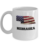 I Love Nebraska Coffee Mugs Coffee mug sets - 11 Oz State Love Gift Idea Tea Cup Funny