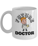 Future Doctor Coffee Mug - White Porcelain Coffee Cup,Premium 11 oz White coffee cup