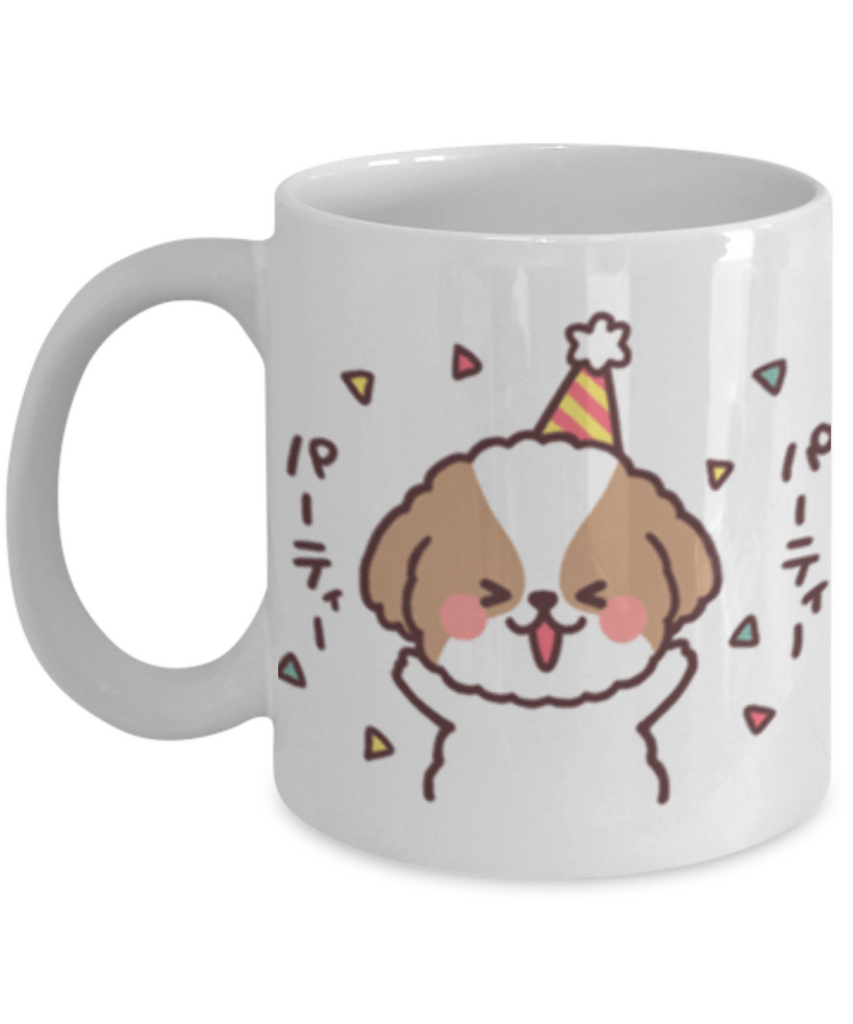 Funny Shih Tzu Mug -Happy Birthday Shih Tzu Coffee Mug- Premium 11 oz White Coffee Cup