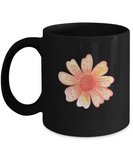 Flowers and Leaves 7 Black Mugs - Funny Christmas Kids  Black coffee mugs 11 oz