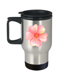 Flowers and Leaves 6 travel mugs - Funny Christmas Kids 14 oz Travel mugs
