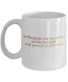 Get well mugs for women , Be thankful and keep fighting for what you want - White Coffee Mug Tea Cup 11 oz Gift