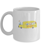School Bus Students coffee mugs - Funny Christmas White coffee mugs 11 oz