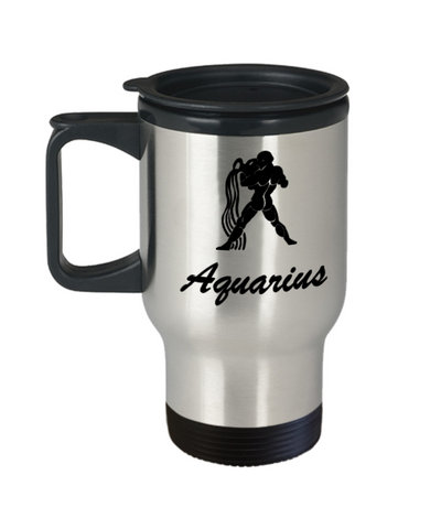 Aquarius - Aquarius Travel Mug - Aquarius Zodiac Mug - Zodiac - Funny 14 oz Travel mugs