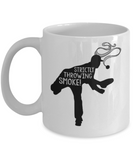 Fitness Lovers mugs , Strictly throwing smoke - White Coffee Mug Porcelain Tea Cup 11 oz - Great Gift