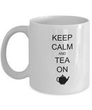 Keep calm and Tea on white mugs - Funny Christmas Gifts White coffee mugs 11 oz