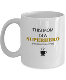 Mom Superhero gift coffee white mugs - Funny Christmas Gifts White coffee mugs 11 oz