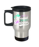 Swim like a Mermaid Run like a Unicorn - Stainless Steel Travel Insulated Tumblers Mug 14 oz - Great Gift