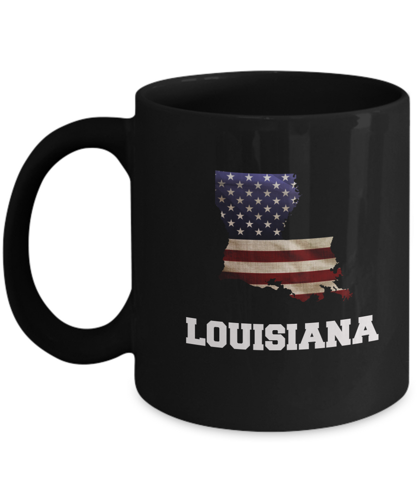 I Love Louisiana Coffee mug sets - 11 OZ Black coffee mugs  State Love Gift Idea Cup Funny