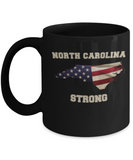 North Carolina coffee Black mug - Porcelain Black Funny Black coffee mugs 11 oz