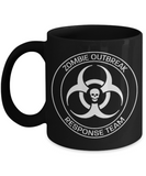Plants vs zombies gift box mugs , Outbreak Response Team - Black Coffee Mug Porcelain Tea Cup 11 oz - Great Gift
