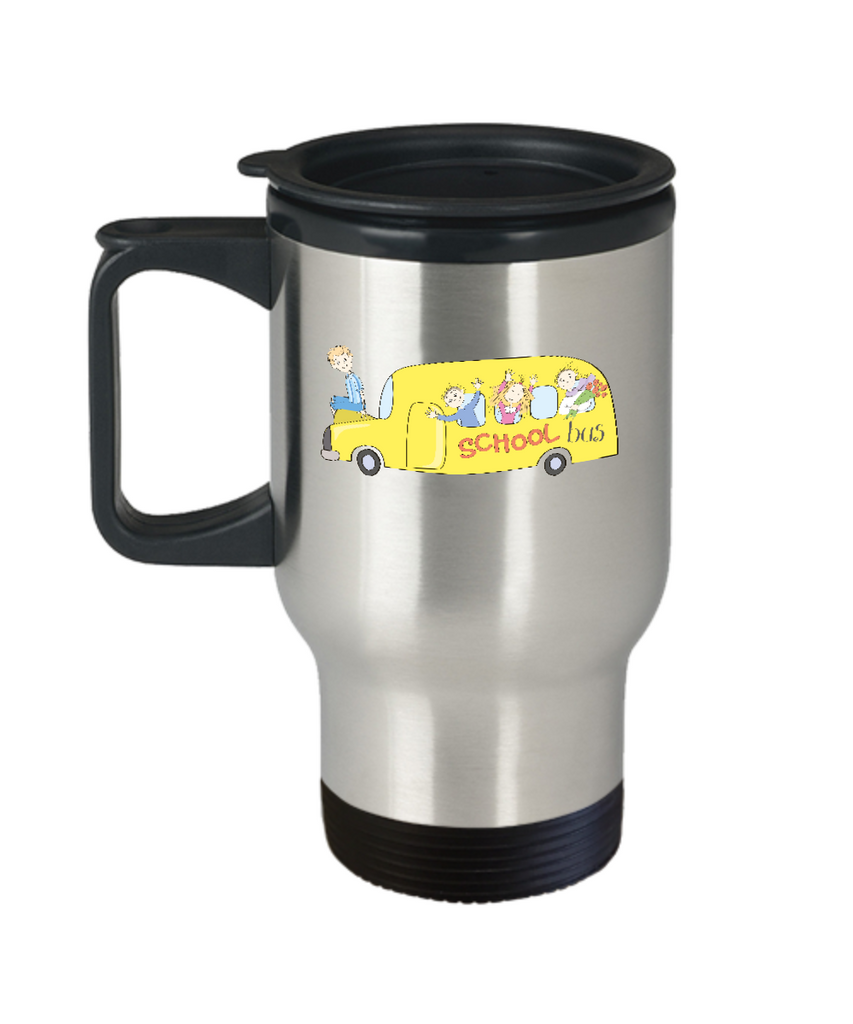 School Bus Students travel mugs - Funny Christmas 14 oz Travel mugs
