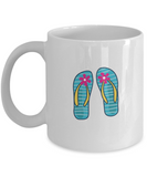 Footwears with Flowers Funny white mugs - Funny Christmas White coffee mugs 11 oz