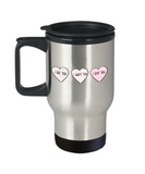 Write like a mother f mug, I Like you, I adore you, I love you - Premium 14 oz Travel Coffee Mug