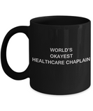 Healthcare chaplain Coffee Mugs - World's Okayest General practitioner Black coffee mugs 11 oz