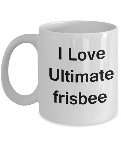 i love ultimate frisbee valentines gifts porcelain white funny