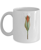 Flowers and Leaves 11 coffee mugs - Funny Christmas Gifts White coffee mugs 11 oz