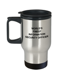 World's Finest Information security officer - 14 oz Travel mugs