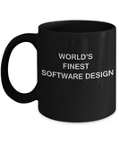 World's Finest Software design - Porcelain Black Funny Coffee Mug 11 OZ Funny Mugs