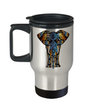 Funny Coffee Mug - Elephant Lovers Mugs - Funny Farm 14 oz Travel mugs