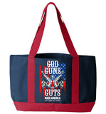 God Guns And Guts Tote Bag - Zapbest2  - 1