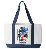 God Guns And Guts Tote Bag - Zapbest2  - 2