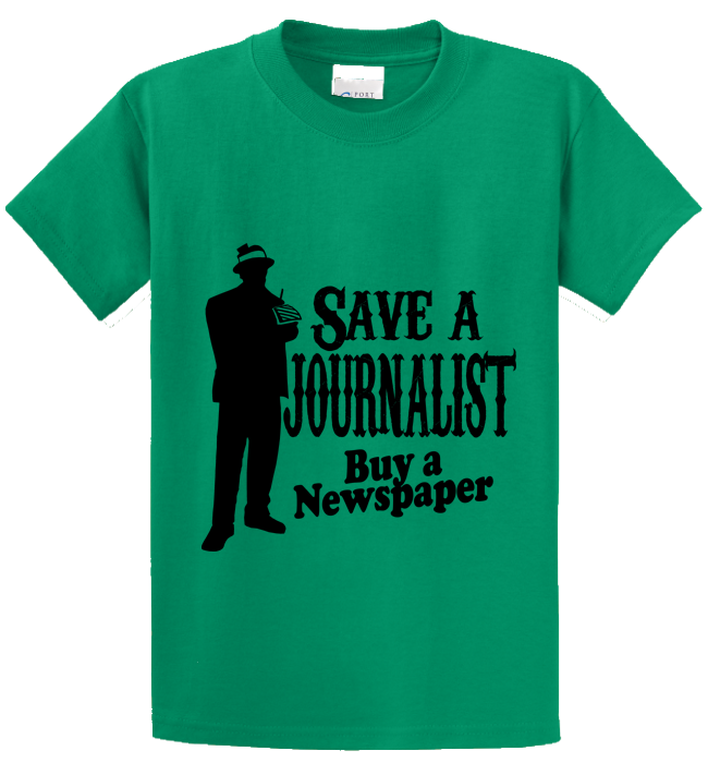 Save A Journalist, Buy Newspaper - Zapbest2  - 2