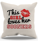 This Girl Loves Her Sooners Pillow Case - Zapbest2