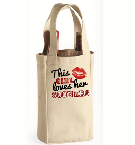 This Girl Loves Her Sooners Wine Bag - Zapbest2