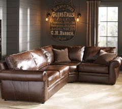 leather soda man cave