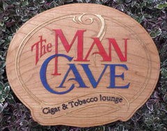 wood sign man cave