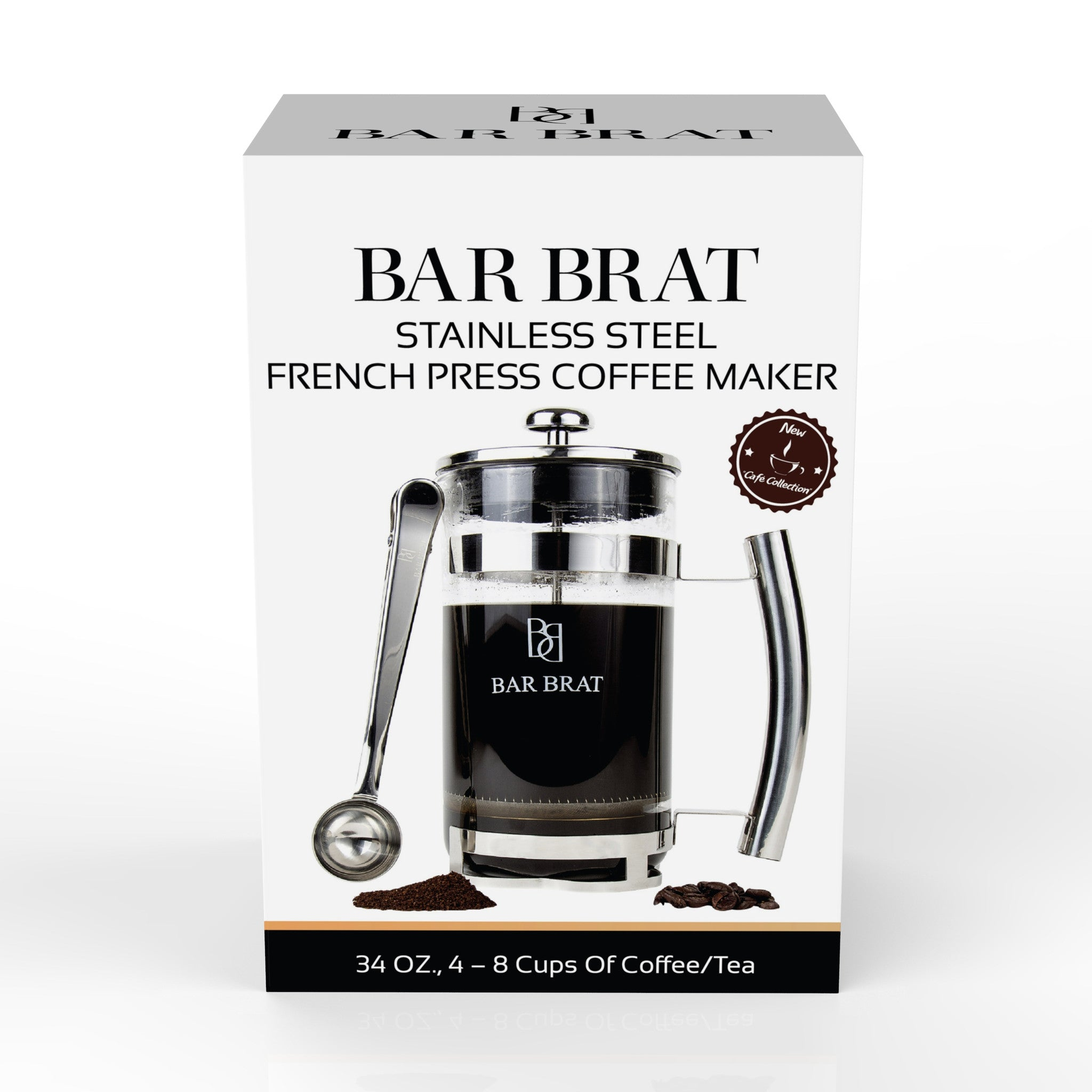 Coffee Maker Stainless Steel Inside : French Press Coffee Maker by Bar Brat / Premium Stainless Steel