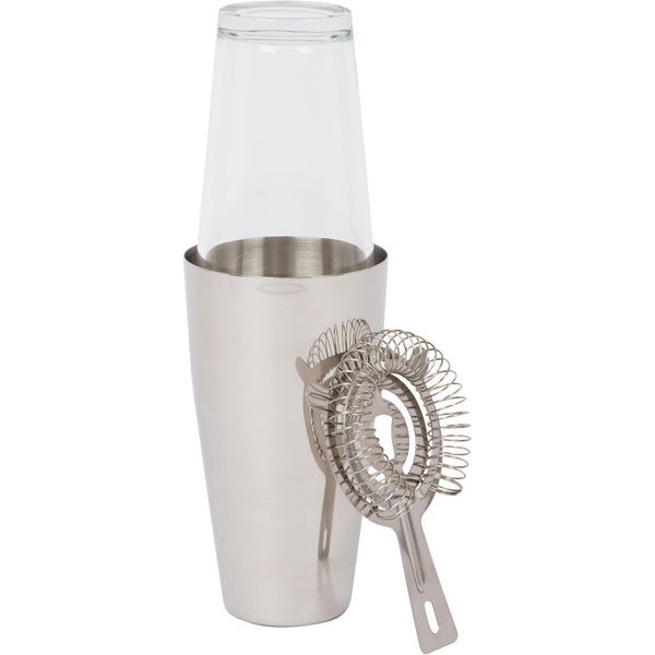 Cocktail Boston Shaker Set by Bar Brat | Bonus Cocktail Strainer Included