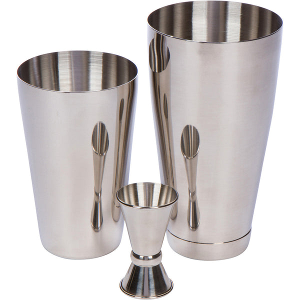 4 Piece Boston Shaker Bar Set by Bar Brat ™ / Bonus 130+ Cocktail Recipes (ebook) / Bonus Jigger / Mix Any Drink To Perfection