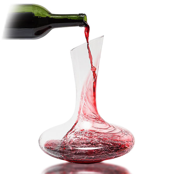 Premium Glass Wine Decanter & Wine Aerator by Bar Brat | Unlock The Flavors of Your Favorite Wine Bottles | Great For 750 ML Wine Bottles