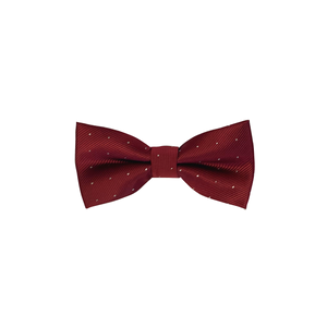 Burgundy Dotted Bow Tie