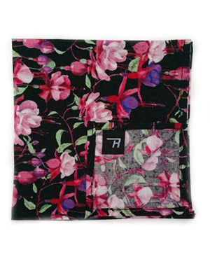 Fushsias and Hummingbirds Pocket Square