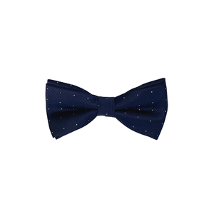 Navy Blue Dotted Bow Tie