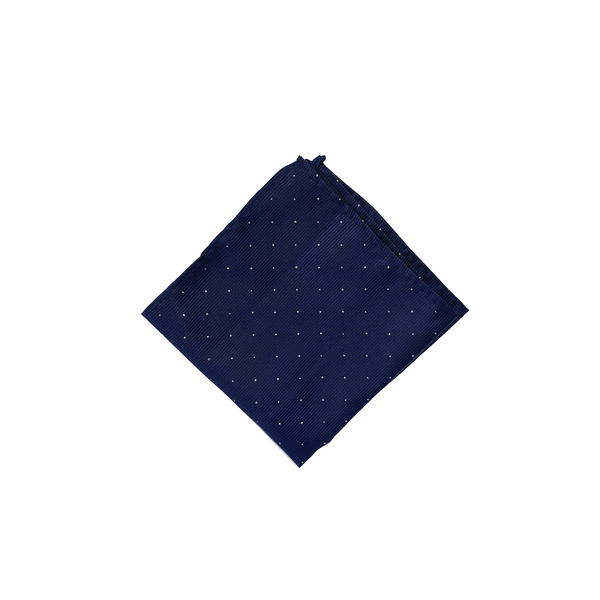 Navy Blue Dotted Pocket Square
