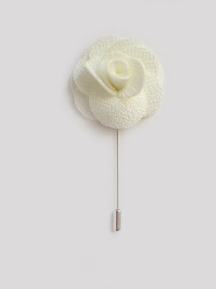 White Floral Lapel Pin