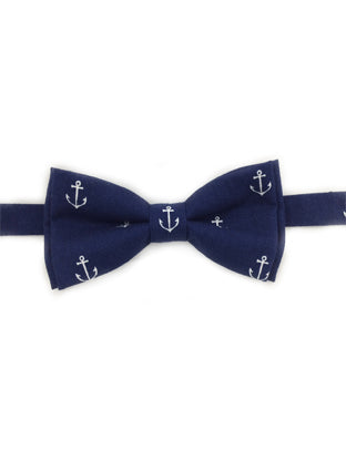 Anchor Print Bow Tie