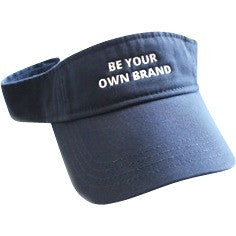 "Navy Blue Sun Visor ""Be Your Own Brand"""